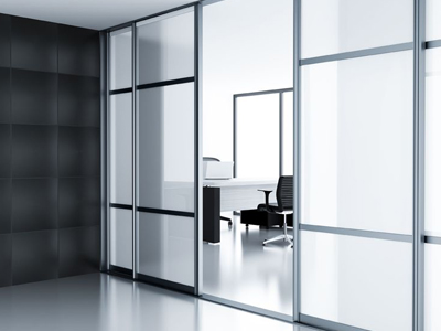 Toughened office glass